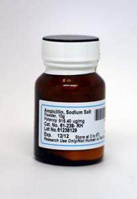 Corning™Ampicilline, sel de sodium Ampicilline, sel de sodium; poudre; 100g Corning™Ampicilline, sel de sodium