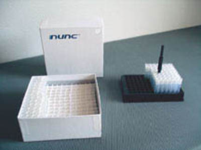 Thermo Scientific™ Dense Storage Options Thermo Scientific™ Nunc™ cardboard box, for Cryobank and Bank-It Vial Systems, for 169 vials, 13x13 compartments Thermo Scientific™ Dense Storage Options