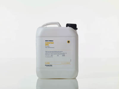 Contec™Filtered Alcohols: 70% IPA or Denatured Ethanol Blended with Purified Water Capped; 2 x 5L; 70% isopropanol in purified water Contec™Filtered Alcohols: 70% IPA or Denatured Ethanol Blended with Purified Water