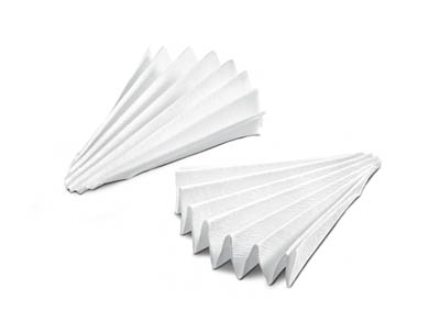 Sartorius™ Grade 470 Folded Filter Cellulose and Diatomaceous Earth Filter Papers Dia.: 150mm Sartorius™ Grade 470 Folded Filter Cellulose and Diatomaceous Earth Filter Papers