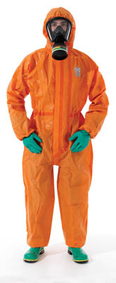 Ansell Edmont™ Micrograd™ MICROCHEM™ 5000 Coveralls with Hood Medium Ansell Edmont™ Micrograd™ MICROCHEM™ 5000 Coveralls with Hood