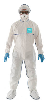Ansell Edmont™ Microgard™ 2000 Standard SOCO/CSI Coveralls with Hood Small Products