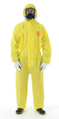 Ansell Edmont™ Microchem™ 3000 Coveralls with Hood and Integrated Socks 2XL Ansell Edmont™ Microchem™ 3000 Coveralls with Hood and Integrated Socks